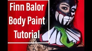Finn Balor Body Paint Tutorial/ MakeUpEnPointe