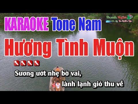 Hương Tình Muộn Karaoke | Tone Nam -