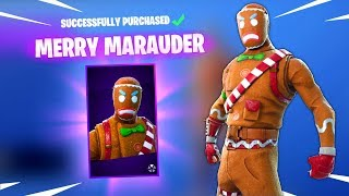 MERRY MARAUDER SKIN & GINGER GUNNER SKIN Fortnite Daily Reset