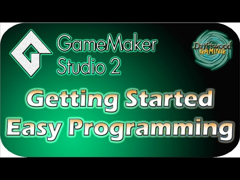 GMS 2 Tutorial - Getting Started - Easy Programming in GML - GameMaker Studio 2 Tutorial