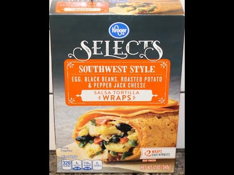 Kroger Selects Southwest Style Salsa Tortilla Wraps Review