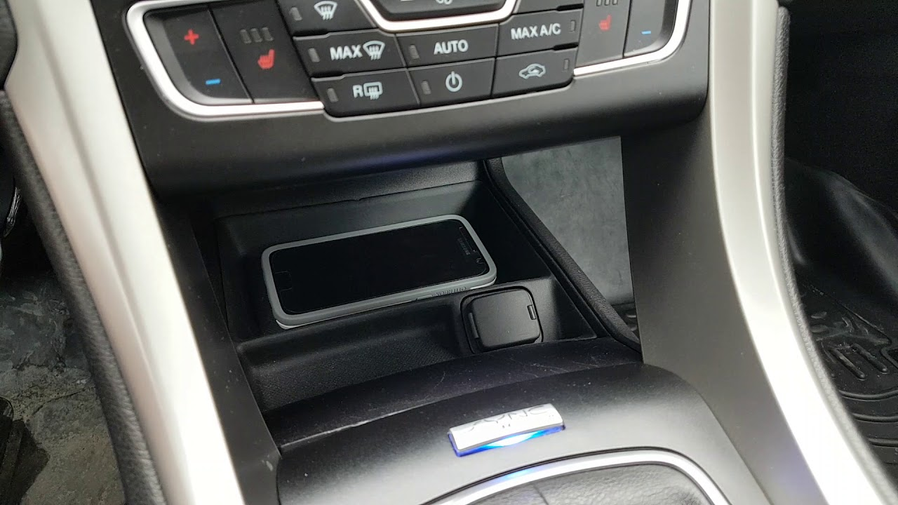 Custom Wireless Charger In Ford Fusion