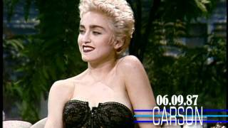 Madonna Flirts in Her 1st Talk Show Interview on Johnny Carson's Tonight Show 1987
