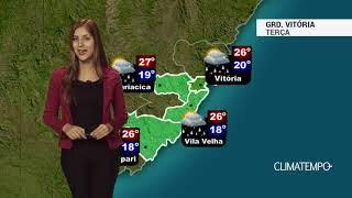 Previsão Grande Vitória - Chuva e temperatura amena