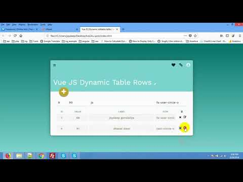 Creating Dynamic Tables with Vue js | Table Vuejs Examples | vue dynamic  editable table