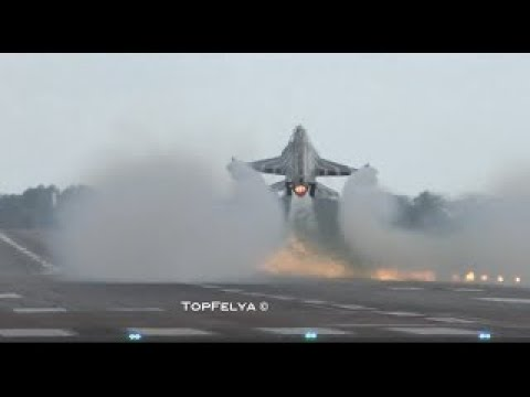 F-16 Performs Fantastic Touch-And-Go, With Two Rolls