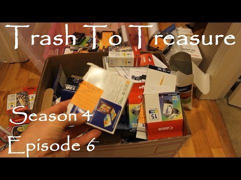 Trash To Treasure Season 4 Episode 6 - Dumpster Diving Web Series - Amazing Office Depot Haul