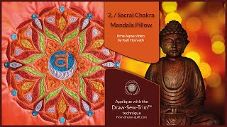 How it was made - DST 2. Sacral Chakra Mandala Pillow (DST / Time-lapse)