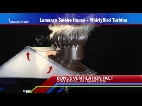 Lomanco® Whirlybird® Turbine Smoke House Demo