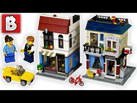 Lego Creator Bike Shop & Cafe Set 31026 | Unbox Build Time Lapse Review Add to City