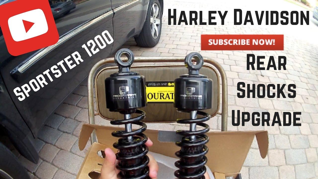 Rear Shocks Install and Upgrade for Harley Davidson ...