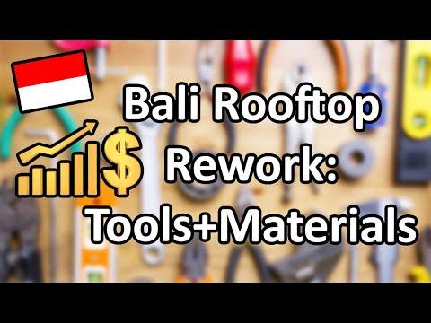 Bali Rooftop Rework Ep 2; Buying Tools + Materials