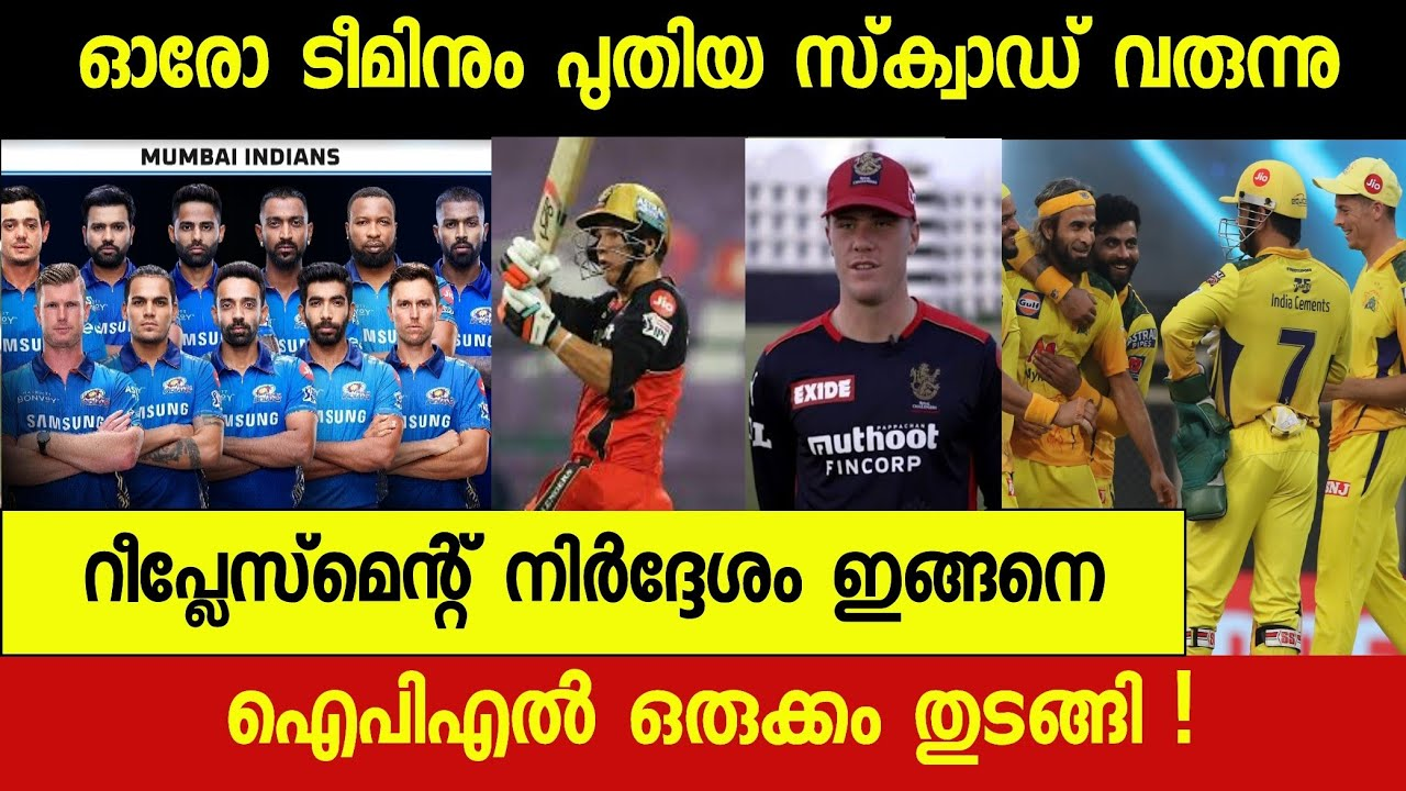 Download IPL REPLACEMENT INFO | NEW RULE INTRODUCED | IPL2021 NEWS MALAYALAM