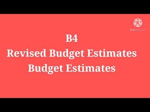 B4,Budget Estimates,Revised Budget Estimates,Part First