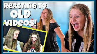 Reacting to Our Old Videos || Taylor and Vanessa