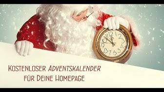 Online Adventskalender kostenlos