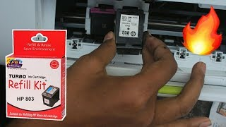 HP 803 Black Ink Cartridge Refill | Refilling Ink Black | Dekh Review (Hindi/Urdu)