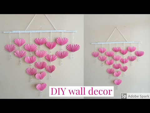 DIY Paper Heart Wall Decor - Easy Wall Decoration Ideas - Paper craft | parulpawar