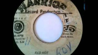 ALAH & THE VANDELLS - Red hot + version (1975 Warrior production)
