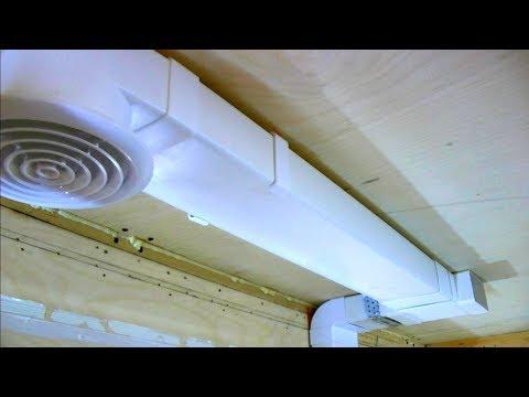 Вытяжка и вентиляция с обратным клапаном под натяжным потолком