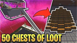 WE GOT *50 CHESTS OF LOOT* FROM OUR SKYBRIDGE TRAP... *INSANE* | Minecraft HCF