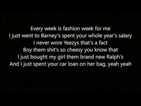 Fashion Week - By: Blackbear (Lyrics)