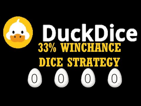 DUCKDICE 2020 || LET'S TRY OUR LUCK USING 33% WINCHANCE STRATEGY