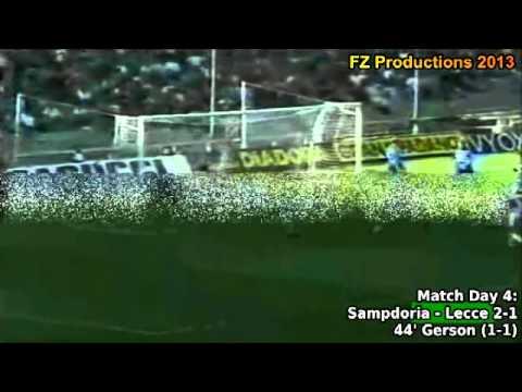 Serie A 1993-1994, day 4 Sampdoria - Lecce 2-1 (Gerson goal)