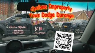 Improper Tow of Dodge Durango (Cyclone Towing/McDonalds)