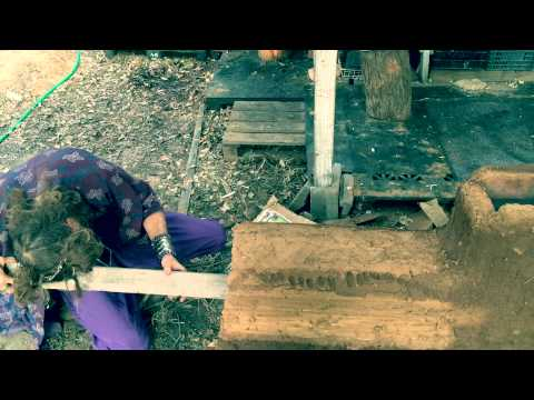 How to make, How to start a rocket stove fire after completion