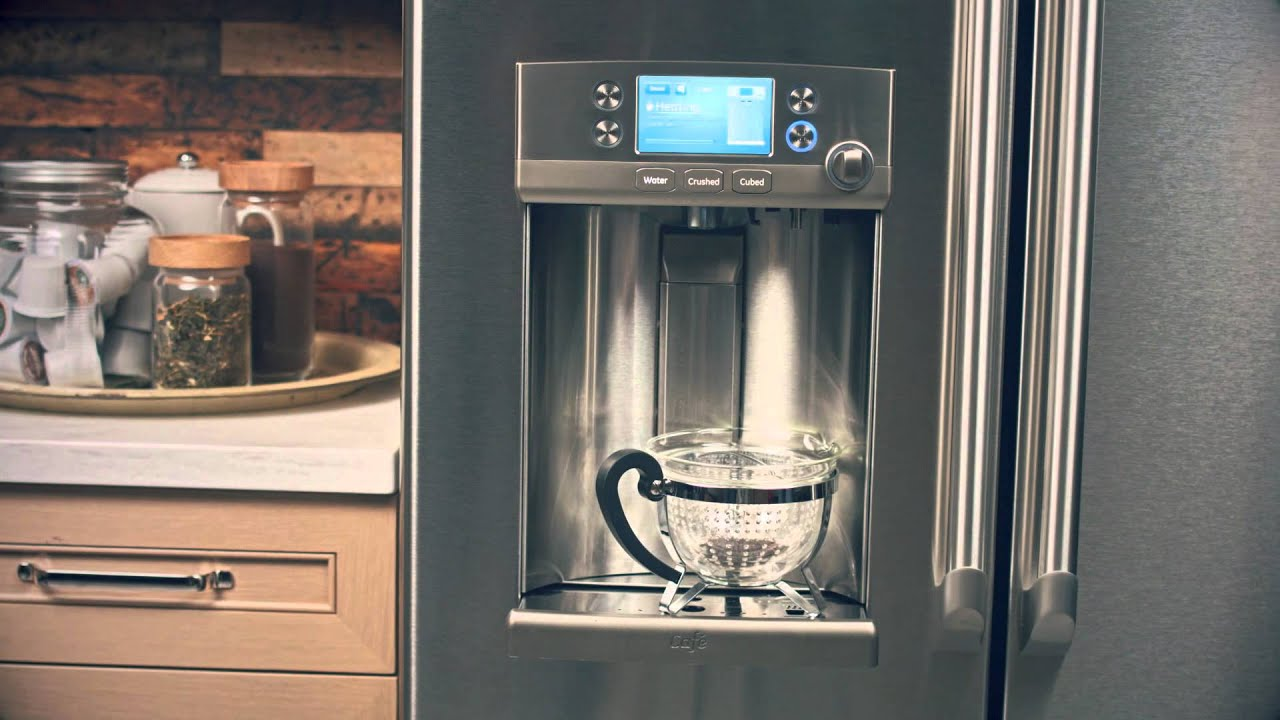 ge caf series french door with hot water keurig kcup brewing system