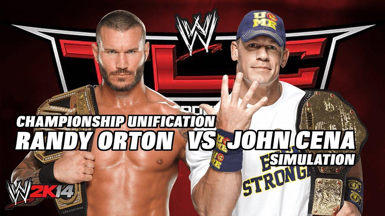 WWE 2K14 TLC Randy Orton vs John Cena Undisputed ...  WWE 2K14 TLC Ra...