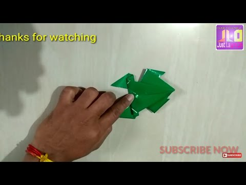 HOW TO MAKE EASY PAPER FROG.