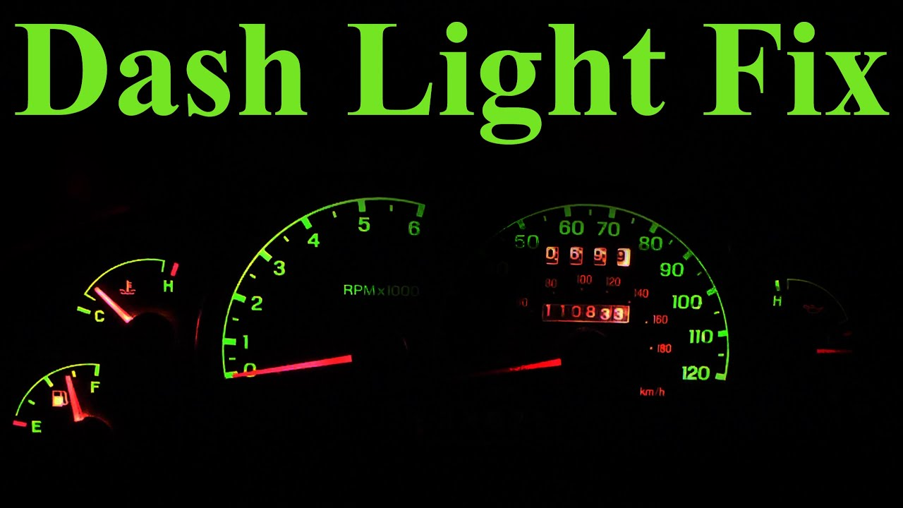 How To Replace Dashboard Lights In Depth Youtube Mustang Gauge Cluster Circuit Board Housing Instrument Panel Ebay Premium