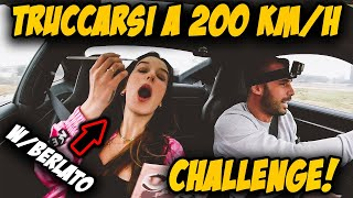 """PUTTING MAKE UP ON AT 200 KM/H CHALLENGE"" IN A PORSCHE 911(992)! HOW FAST EP.3 W/ELENA BERLATO"