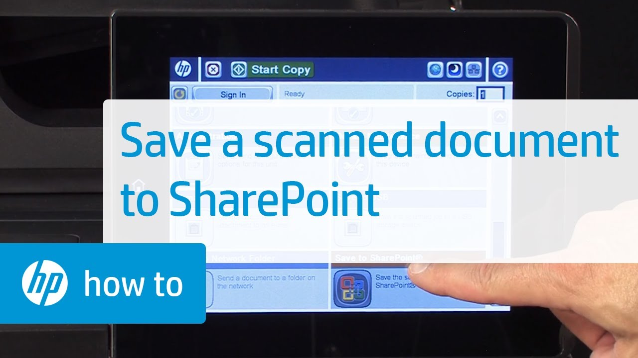How to Save a Scanned Document to SharePoint   HP Printers   HP