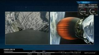 SPACEX - Landing of first stage Falcon 9 rocket - From space to ground - Spacex