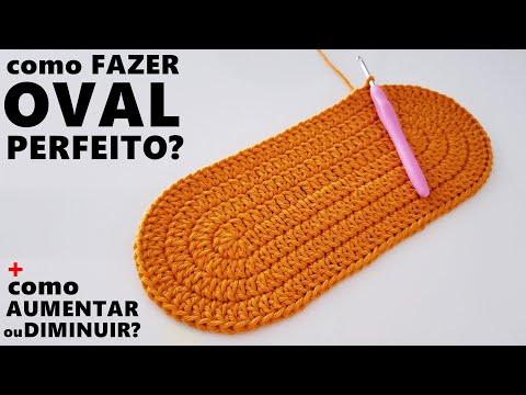 Como fazer tapete OVAL PERFEITO em crochê + dicas para AUMENTAR ou DIMINUIR um TAPETE OVAL