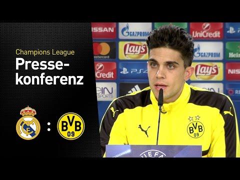 Pressekonferenz mit Marc Bartra und Thomas Tuchel | Real Madrid - BVB