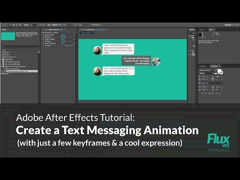 After Effects Tutorial: How to Create a Text Messaging Anima