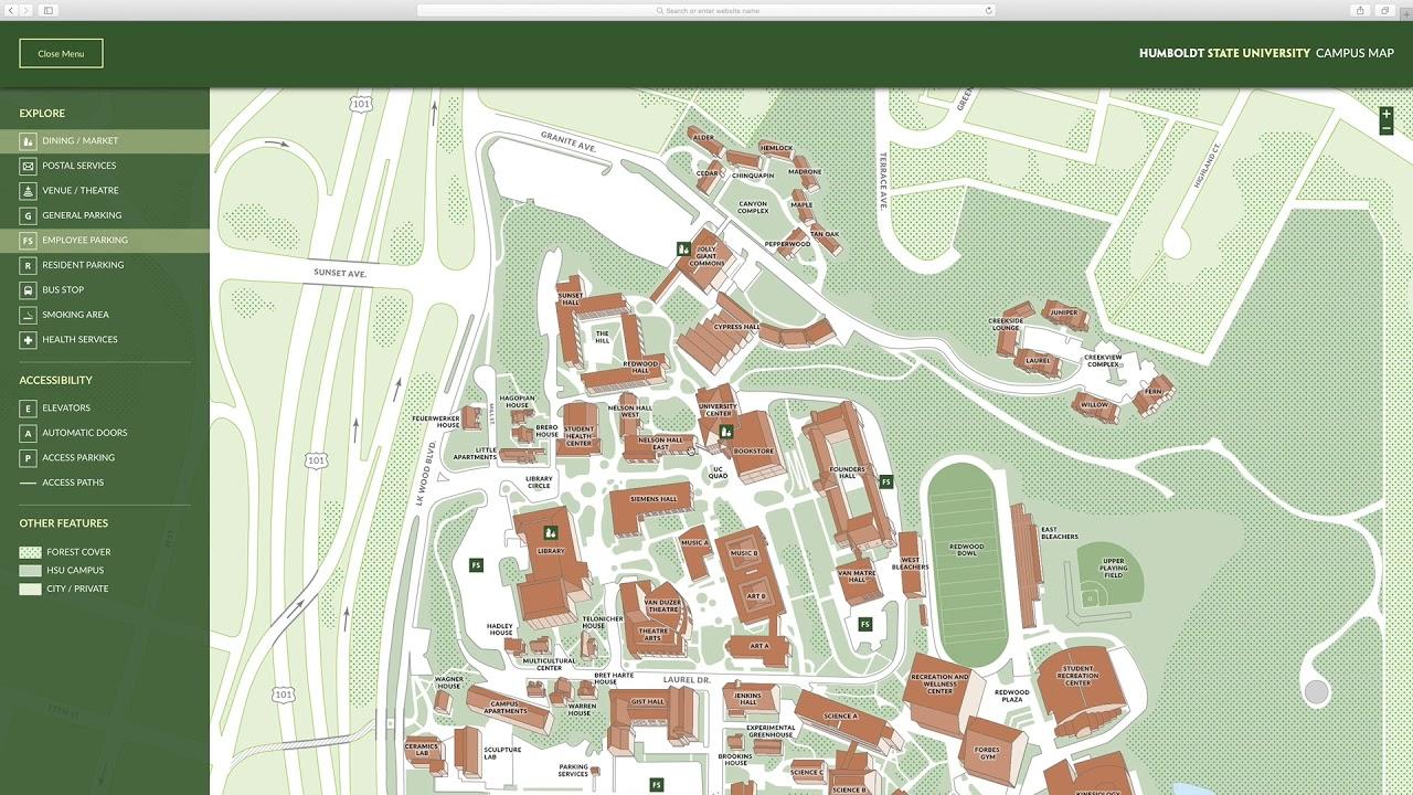 humboldt state campus map Hsu Campus Map 1080 Youtube humboldt state campus map