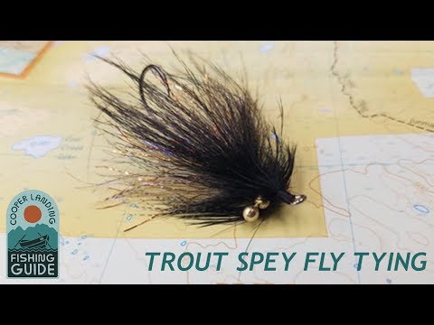 How To Tie A Deadly Trout Spey Swinging Fly - The Black Deat