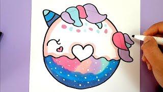 Kawaii Einhorn Donut Selber Malen Diy Youtube