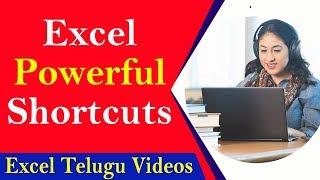 Excel 20 Powerful Shortcut keys || Excel Telugu Videos