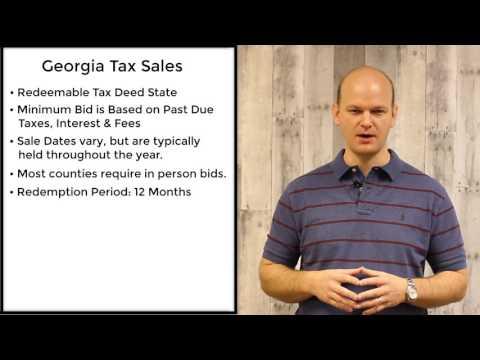 Georgia Tax Sales - Redeemable Tax Deeds