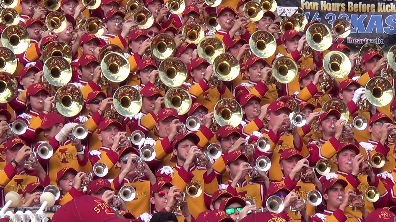 Iowa State University Marching Band - Bells of Iowa State Chorale & Fight  Songs (Sept 15, 2018)