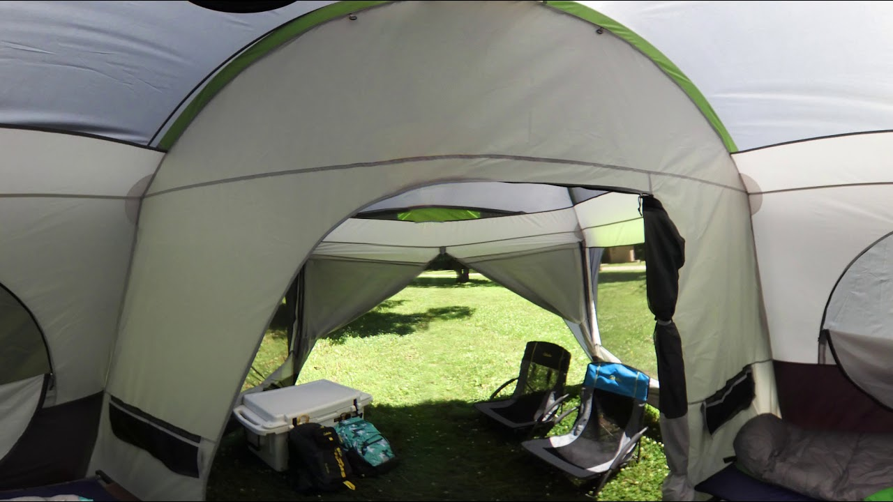 Cabelau0027s Getaway Cabin 4-Person Tent with Fly | 360 Tour & Cabelau0027s Getaway Cabin 4-Person Tent with Fly | 360 Tour - YouTube