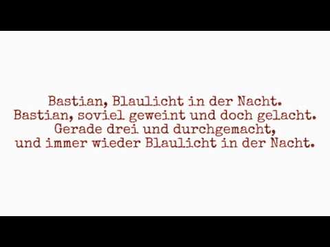 Matthias Reim - Bastian (lyrics)