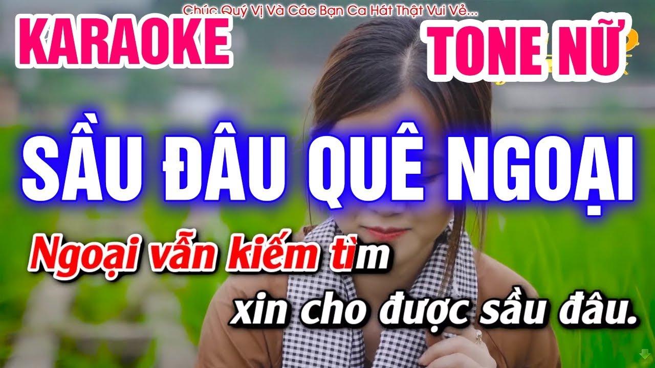 Karaoke Sầu Đâu Quê Ngoại Tone Nữ Nhạc Sống (Cha Cha Cha) | Mai Thảo Organ