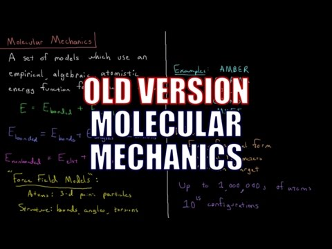 Computational Chemistry 2.2 - Molecular Mechanics (Old Version)